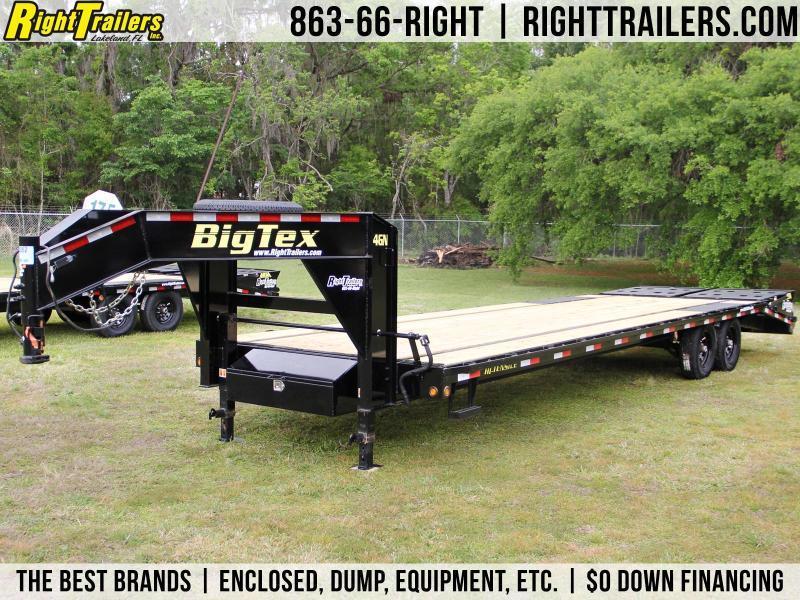 8 5x30 Big Tex Trailers Equipment Trailer 14gn Right