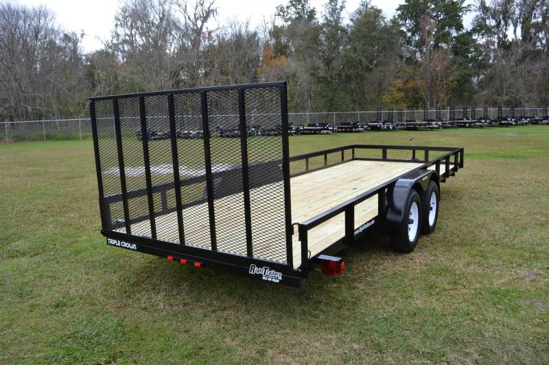 7x20 Red Hot Trailers   Utility Trailer