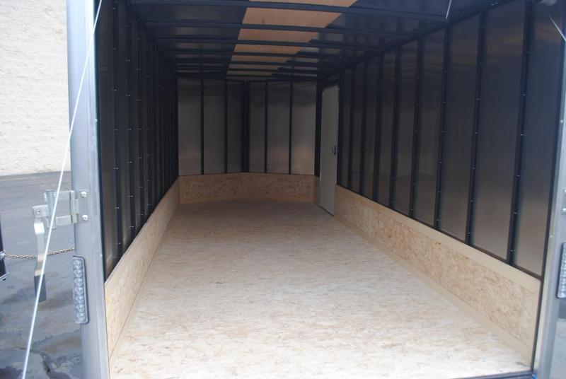 7x16 Wells Cargo   Enclosed Trailer [Black]