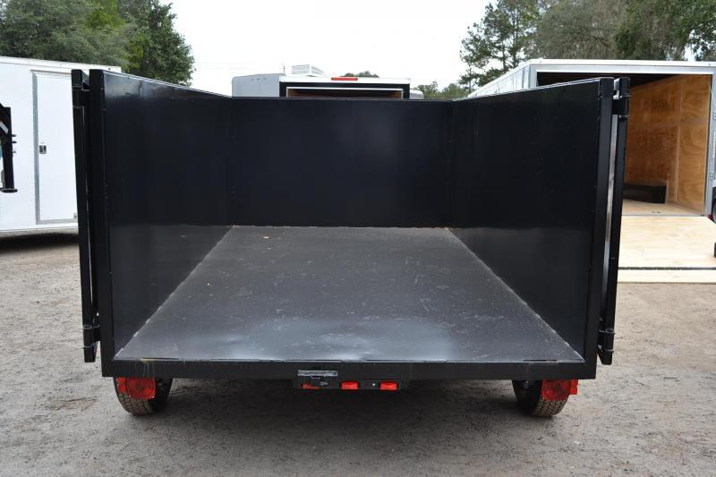 6x12 Red Hot Trailers | Dump Trailer [LOW RIDER 4' HIGH SIDES]