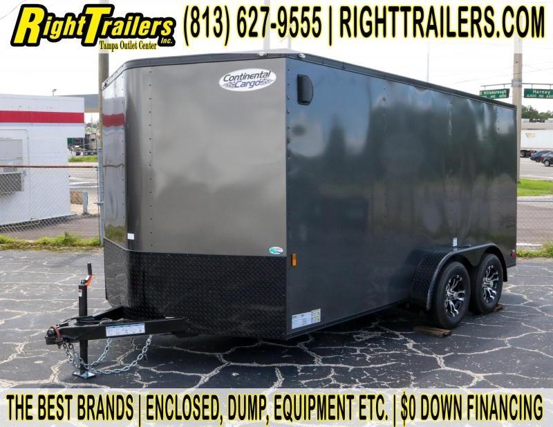 7x14 Continental Cargo   Enclosed Trailer