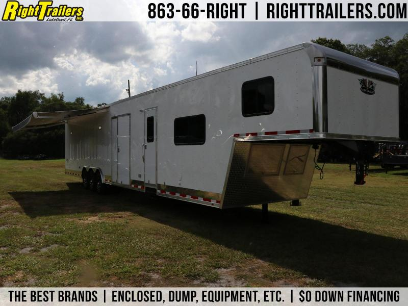 8.5x48 Vintage Trailers | Living Quarters Race Trailer