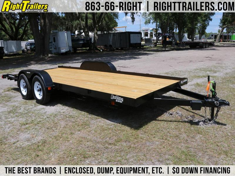 7x18 Triple Crown Trailers | Open Car Hauler Equipment Trailer