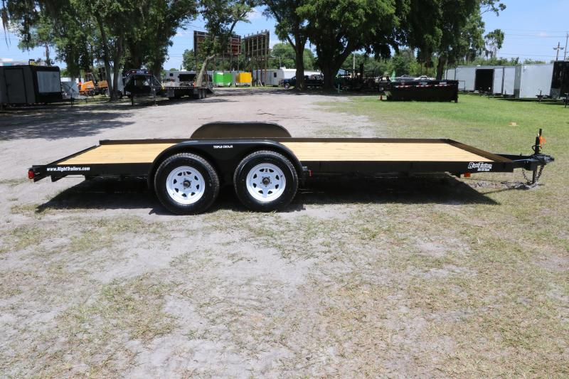 7x18 Red Hot | Open Car Hauler Equipment Trailer