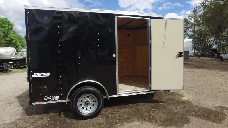 6x10 Pace American Enclosed Trailer Black Right