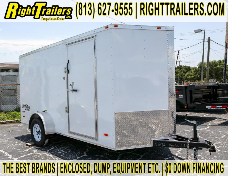 6x12 Red Hot   Enclosed Trailer