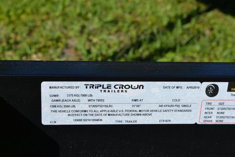7x18 Triple Crown Trailers | Open Car Hauler Trailer