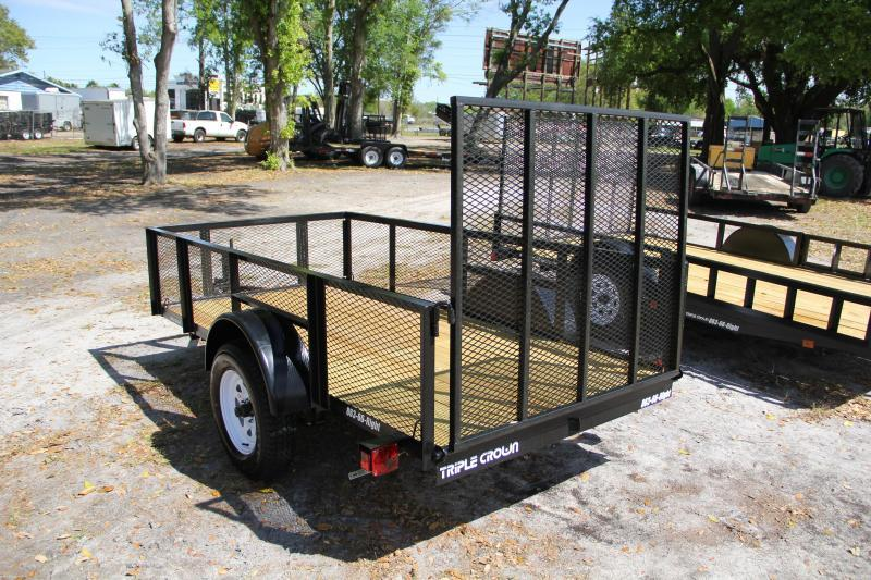 5x10 Red Hot Trailers   Utility Trailer [2' Mesh Sides]