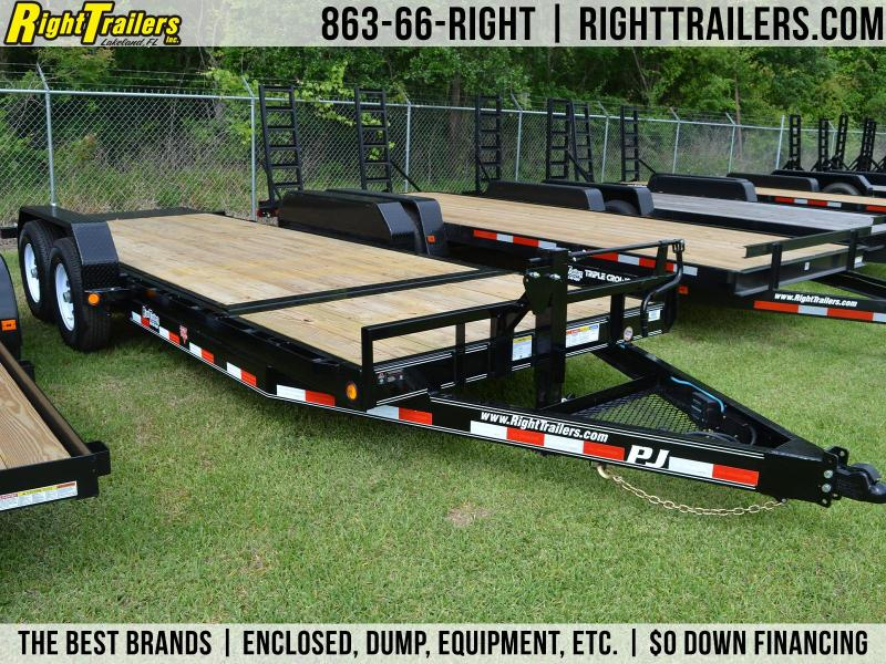 7x20 PJ Trailers | Car Hauler Tilt Trailer
