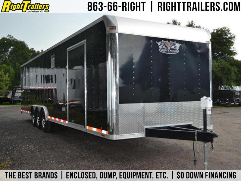 8.5x32 Vintage Outlaw | Race Car Trailer (Black)