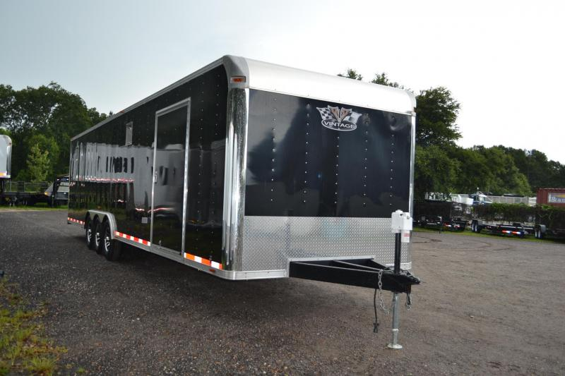 8.5x32 Vintage Outlaw | Race Car Trailer (Black) in Ashburn, VA