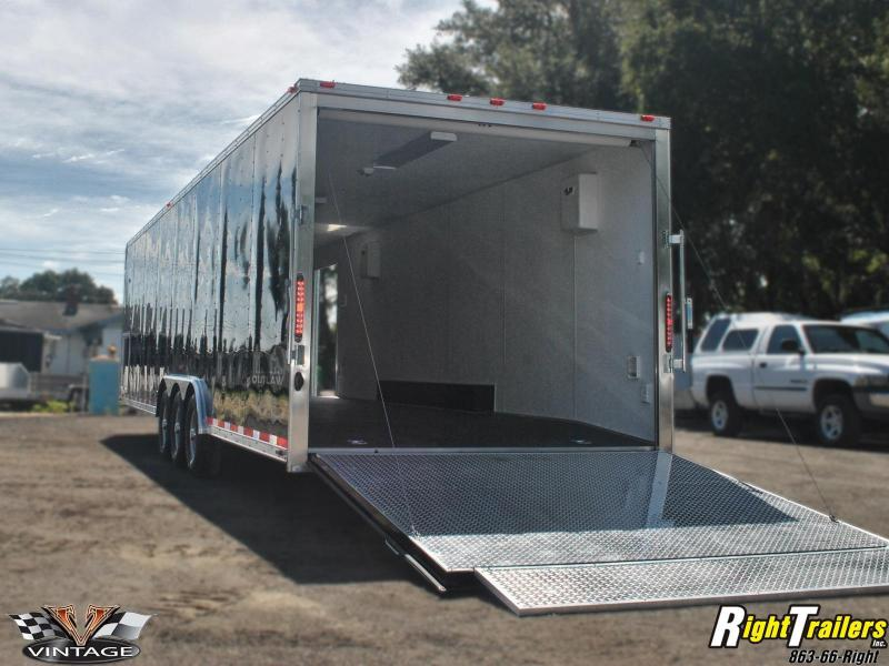 8.5x32 Vintage Outlaw | Race Car Trailer (Black) | Right Trailers ...