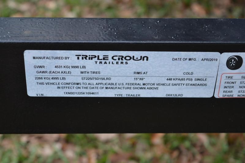 6x12 Triple Crown | Dump Trailer