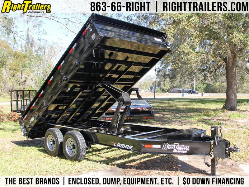 8x14 Lamar Trailers | Dump Trailer [Deck-Over]