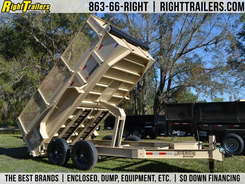 7x14x4 Lamar Trailers | Dump Trailer [Mesh Sides] in Ashburn, VA