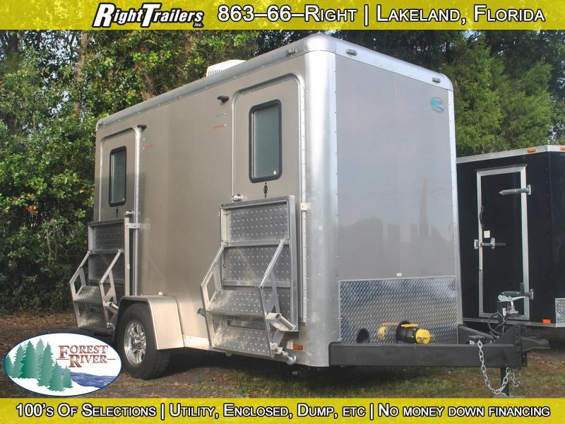 Two Station Restroom Trailer (Rental)
