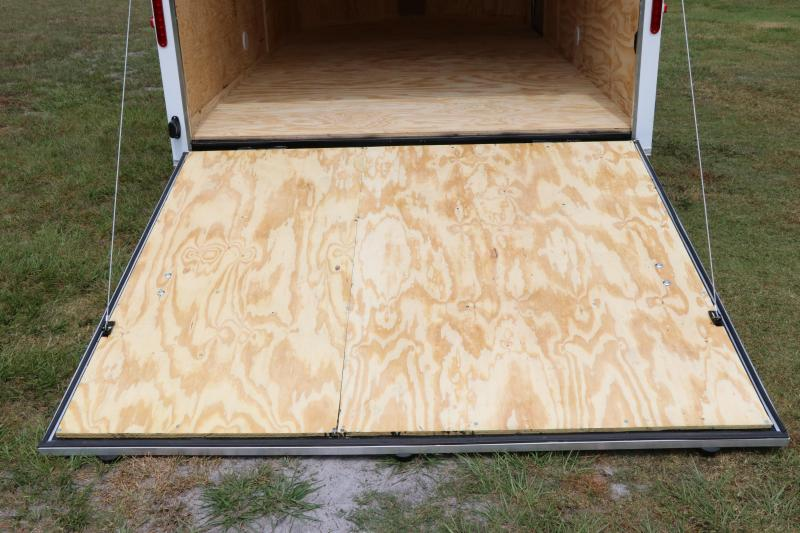 7x14 Red Hot Trailers   Enclosed Trailer