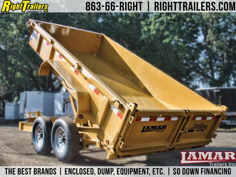 7x14 Lamar Trailers | Dump Trailer [Yellow] in Ashburn, VA