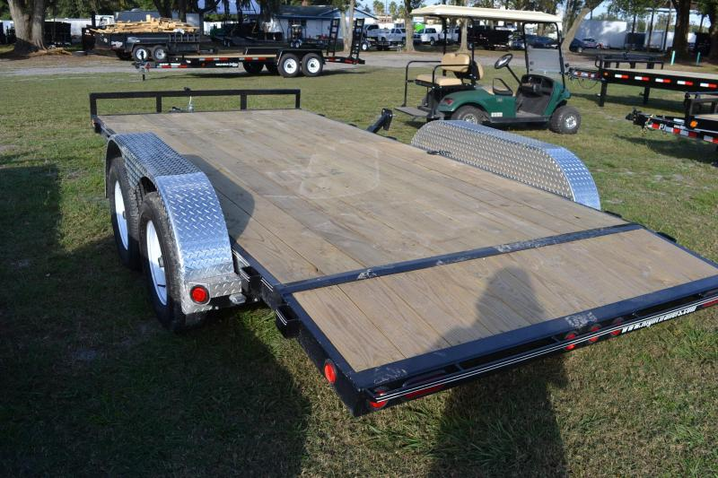 7x16 PJ Trailers | Open Car Hauler Trailer