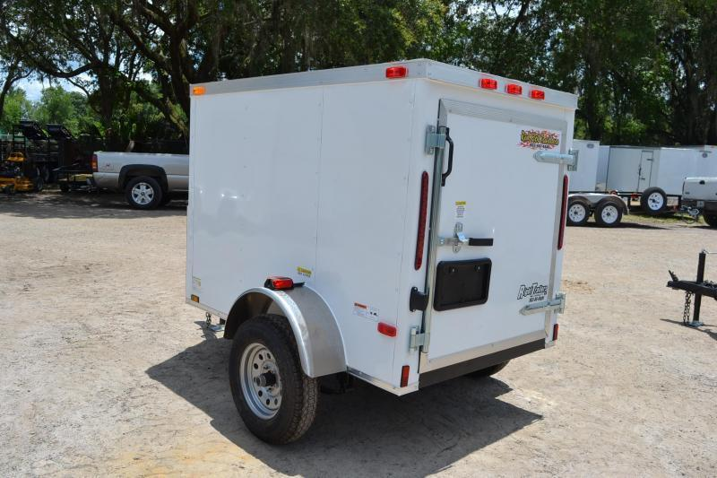 USED: 4x6 Red Hot Trailers | Enclosed Trailer