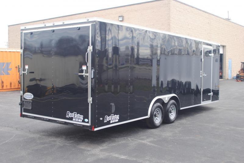 8.5x24 Continental Cargo   Enclosed Trailer