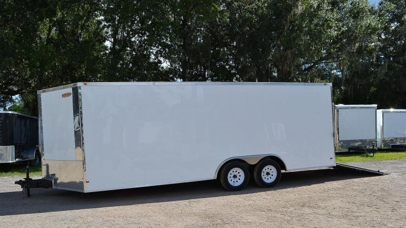 8.5x20 Red Hot Trailers   Enclosed Trailer