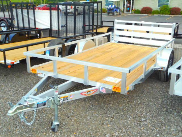 2018 H and H Trailer 76x12 Railside Aluminum Utility Trailer