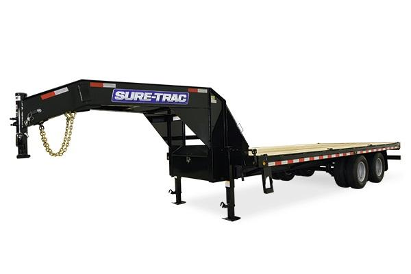 2018 Sure-Trac Gooseneck 8.5 x 40 15K HD Flatbed Deckover Equipment Trailer
