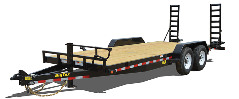 2019 Big Tex Trailers 14ET 83''x20 with Mega Ramps Equipment Trailer