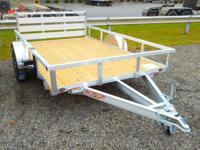2018 H and H Trailer 76x10 Railside Aluminum Utility Trailer