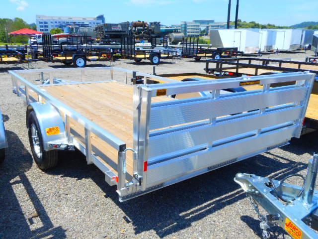 2018 H and H Trailer 82x14 Railside Aluminum Utility Trailer