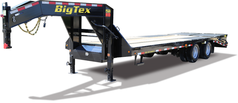 2019 Big Tex Trailers 25GN Goosneck 102''x40 with 8' Slide in Ramps 25.9k Equipment Trailer