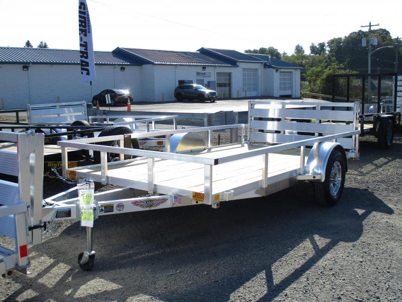 2020 H and H Trailer 76 X 12 Railside Aluminum Utility Trailer