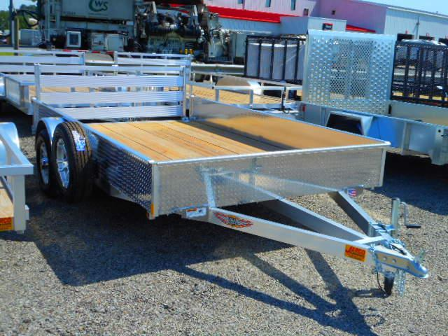 2018 H and H Trailer 82x12 Solid Side Aluminum Utility Trailer