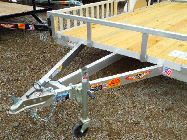 2019 H and H Trailer 82 X 14 Railside Aluminum ATV Trailer