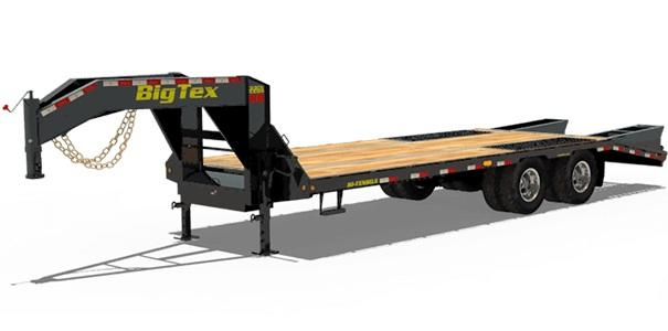 2019 Big Tex Trailers 22GN 102'' X 20+5 Equipment Trailer