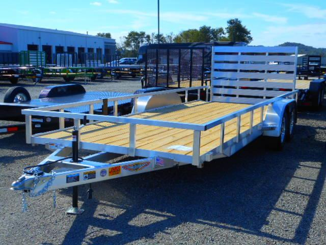 2019 H and H Trailer 82x20 Tandem Axle Railside Aluminum Dovetail Utility Trailer