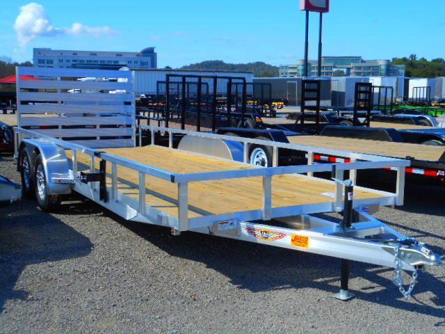 2019 H and H Trailer 82x20 Tandem Axle Railside Aluminum Dovetail Utility Trailer