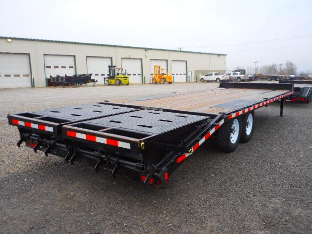 Used 2018 Sure-Trac 8.5 x 20 15K Low Profile Beavertail Deckover Equipment Trailer