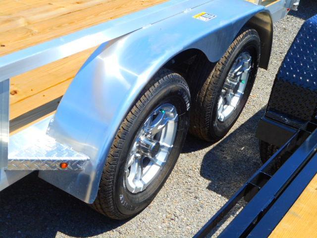 2018 H and H Trailer 82x16 Tandem Railside Aluminum 7k Utility Trailer