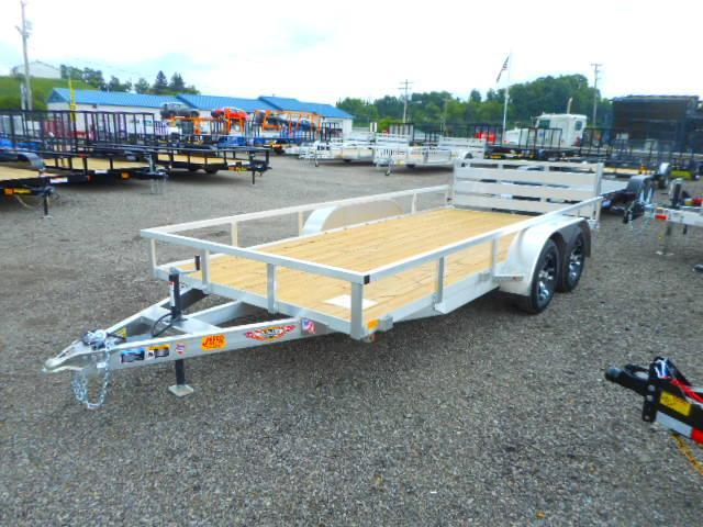 2018 H and H Trailer 82x16 Tandem Axle Railside Aluminum 7k Utility Trailer