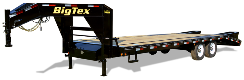2019 Big Tex Trailers 14GN 102''x25+5 with Mega Ramps Equipment Trailer