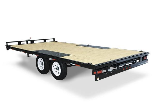 2018 Sure-Trac 8.5 x 16 10K Low Profile Flatbed Deckover with Ramps Equipment Trailer