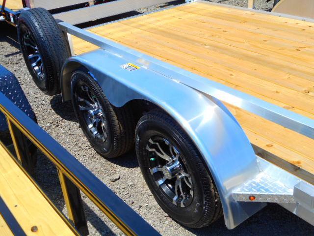 2018 H and H Trailer 82x16 Tandem Axle Aluminum Railside 7K ATV Trailer