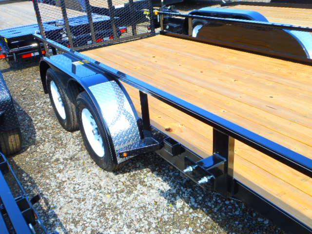 2019 H and H Trailer 76x14 Tandem Axle Rail Side Utility Trailer
