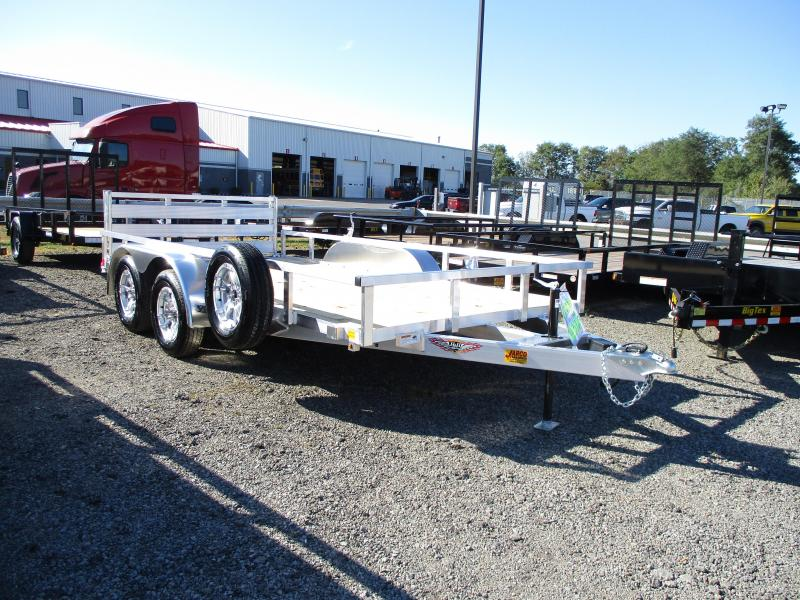 2020 H and H Trailer 82'' X 14 Railside Aluminum Utility Trailer
