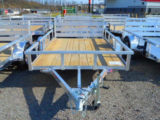 2018 H and H Trailer 76x10 Railside Aluminum Utility Trailer