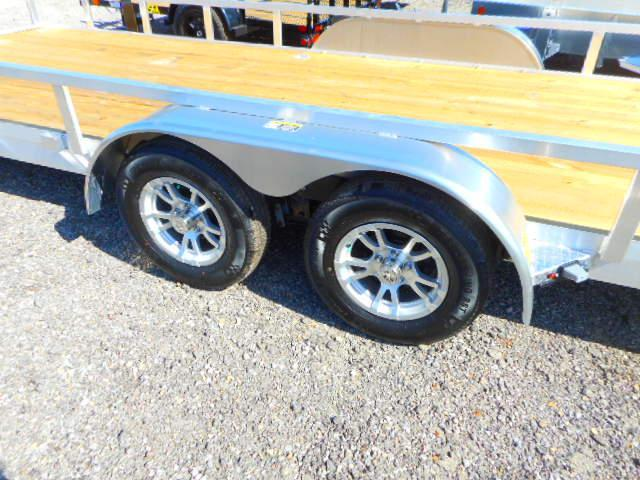 2019 H and H Trailer 82x20 Tandem Axle Railside Aluminum Utility Trailer