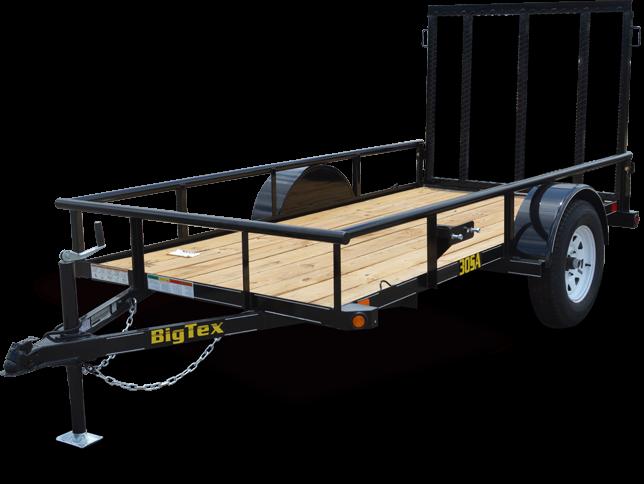 Big Tex Trailers 35SA 6 1/2x10 Single Axle Utility Trailer