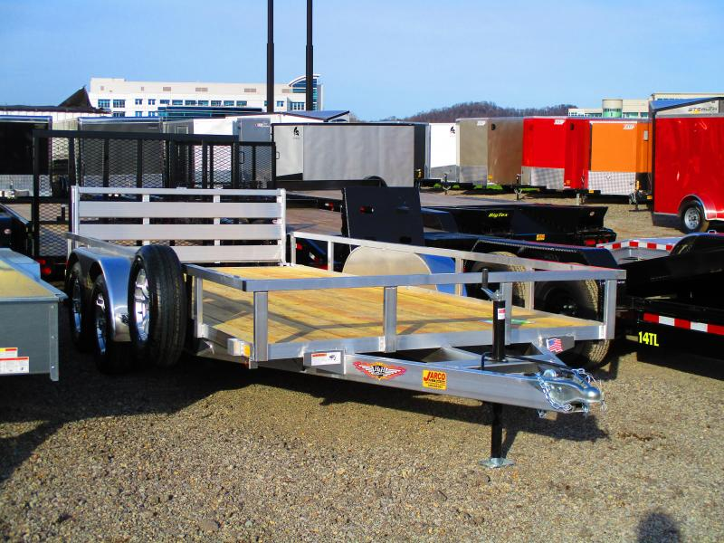 2019 H and H Trailer 82 X 16 Tandem Axle Aluminum Utility Trailer
